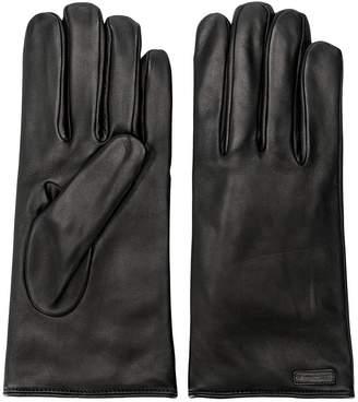 Dolce & Gabbana logo patch gloves
