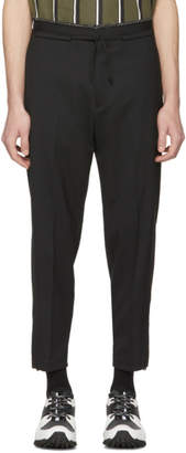 Oamc Black Drawstring Waist Post Trousers