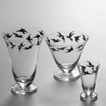 Artel - black birds glassware by artel