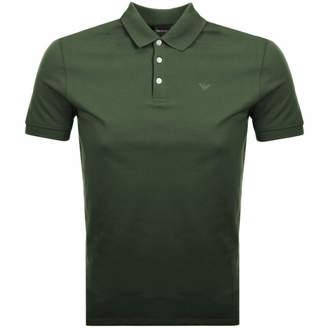 Giorgio Armani Emporio Short Sleeved Polo T Shirt Green