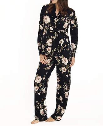 Blooming Women 2 Piece Kimono Top and Matching Pants Set