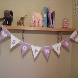 Teeny Beanies Ltd Personalised Fabric Nursery Baby Name Bunting Banner