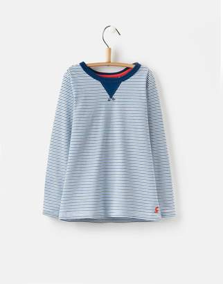Joules Clothing Dazzling Blue Stripe Breton Striped Top 1yr
