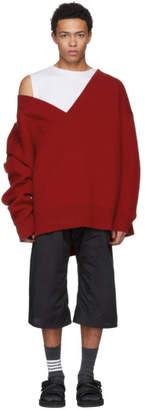 Raf Simons Red Classic Oversized Sweater