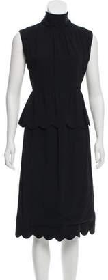 J.W.Anderson Scalloped Sleeveless Dress