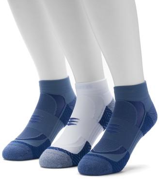 Gold Toe Goldtoe Men's GOLDTOE 3-pack Power Sox Apex Pro Double-Tab Low-Cut Socks