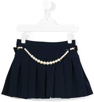 Lanvin Enfant pearl embellished skirt