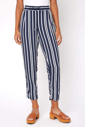 Matty M Striped Tapered Leg Pull On Pant
