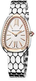 Bvlgari Serpenti Seduttori 18K Rose Gold, Stainless Steel & Diamond Bracelet Watch