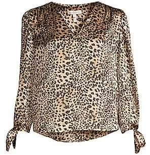 Rebecca Taylor Women's Leopard-Print Silk Blouse - Size 0