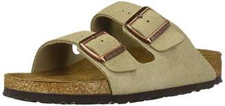 Birkenstock Unisex Arizona Taupe Suede Soft Foot Bed Sandals - 37 N EU / 6-6.5 2A(N) US