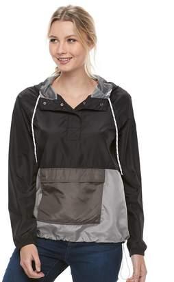 So Juniors' SO Hooded Windbreaker Jacket