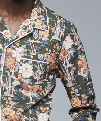 Todd Snyder Exclusive Liberty of London Camp Collar Floral Shirt in Green