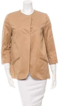 Tia Cibani Lace-Trimmed Twill Jacket w/ Tags