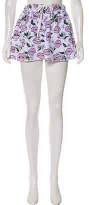 Au Jour Le Jour Mini Printed Skirt w/ Tags