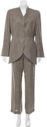 Thierry Mugler Vintage Linen Pantsuit Tan Vintage Linen Pantsuit
