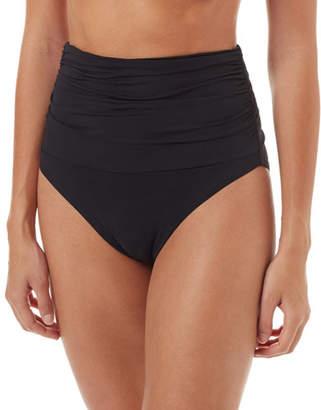 Melissa Odabash Lyon Shirred High-Waist Bikini Swim Bottoms
