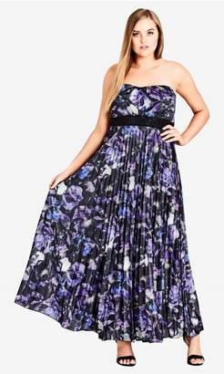 City Chic Citychic Lavender Floral Maxi Dress