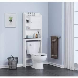 Spirich Home Bathroom Shelf over the toilet, Bathroom Cabinet Organizer,Bathroom Spacesaver, White