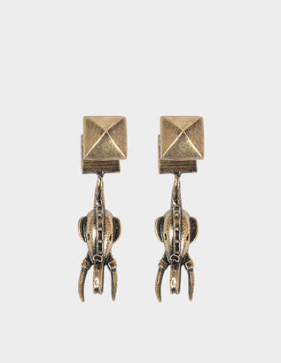 Valentino Elephant Ear Jacket Earrings