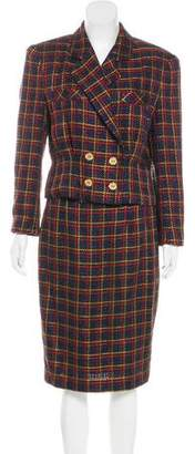 Balenciaga Vintage Plaid Skirt Suit