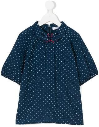 Vivetta Kids hand collar printed blouse