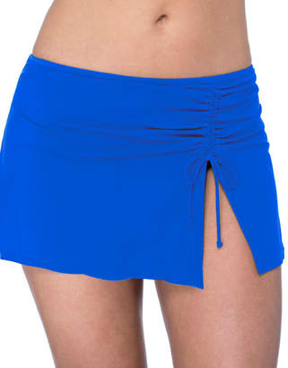 Gottex Plus Size Ruched Skirted Bikini Bottoms