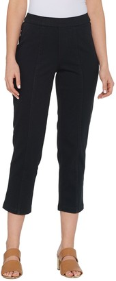 Isaac Mizrahi Live! Petite Knit Denim Crop Pull-On Jeans