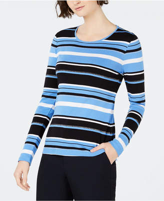 Charter Club Cotton Striped Long-Sleeve T-Shirt