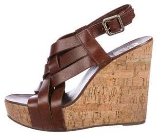 Tory Burch Crossover Wedge Sandals