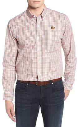 Cutter & Buck Cincinnati Bengals - Gilman Regular Fit Plaid Sport Shirt