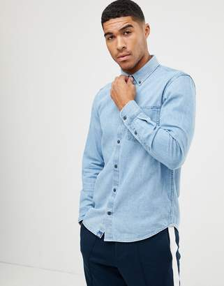 Pull&Bear denim shirt in blue
