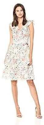Adelyn Rae Women's KIRA Ruffle WRAP Dress