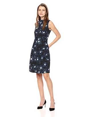 Ellen Tracy Women's Sleeveless Mock Neck Dress