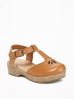 Cutwork T-Strap Clogs for Toddler $22.94 thestylecure.com