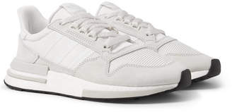 adidas ZX 500 RM Suede, Mesh and Leather Sneakers - White