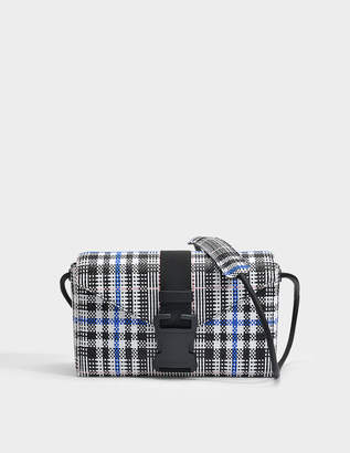 Christopher Kane Woven Tartan Devine Bag in Black and White Woven Check