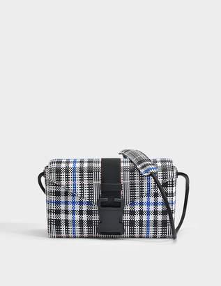 c7057e18e2 Christopher Kane Woven Tartan Devine Bag in Black and White Woven Check