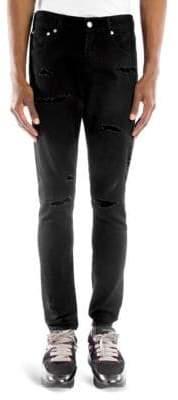Alexander McQueen Skinny Distressed Jeans