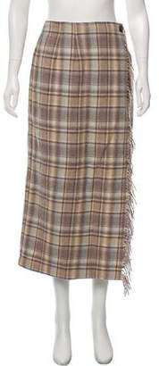 Woolrich Tartan Pattern Wrap Skirt