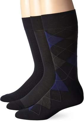 Cole Haan Men's 3 Pack Argyle Crew Sock
