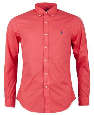 Polo Ralph Lauren Slim Fit Featherweight Twill Shirt Colour: RED, Size