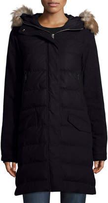 Sorel Tivoli Quilted-Puffer Long Jacket w/ Faux Fur