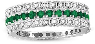 LeVian Suzy Diamonds Suzy Set Of 3 14K 1.66 Ct. Tw. Diamond & Emerald Eternity Rings