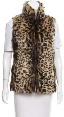 Adrienne Landau Printed Faux Fur Vest