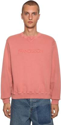 J.W.Anderson Embroidered Cotton Jersey Sweatshirt