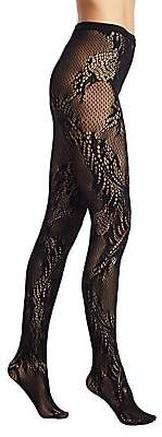 Natori Women's Feather Lace Net Tights