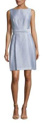 Anne Klein Striped Fit-and-Flare Dress