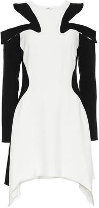 Thierry Mugler Crepe cold-shoulder dress