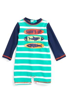 Hatley Surfboards One-Piece Rashguard Swimsuit (Baby Boys)